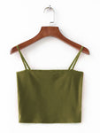 Backless Strap Cami Tank Top In Green - Mint Limit