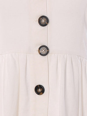 Pocket Detail Button-Down Maxi Dress - Mint Limit