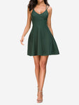 Sleeveless Bodycon Mini Skater Dress - Mint Limit