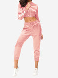 Side Stripe Sports Outfits In Dark Pink - Mint Limit
