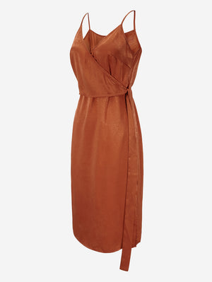 Cami Wrap Dress With Belt - Mint Limit
