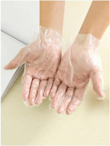 Kitchen Tool 50 Pcs Disposable Transparent Gloves - Mint Limit