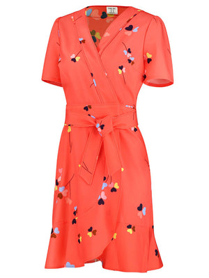 Rita Wrap Dress With Belt - Mint Limit