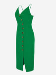 Button-Down Midi Dress In Green - Mint Limit