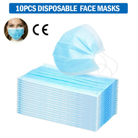 10PCS Disposable Face Masks Anti-bacteria Spit Splash Protection - Mint Limit