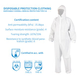 Disposable Coverall Medical Protection Coverall Suit Without Taped Seam - Mint Limit