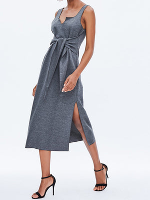 Tie Front Midi Sundress - Mint Limit