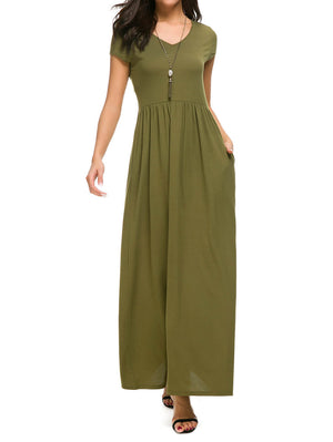Maxi Dress With Pockets - Mint Limit