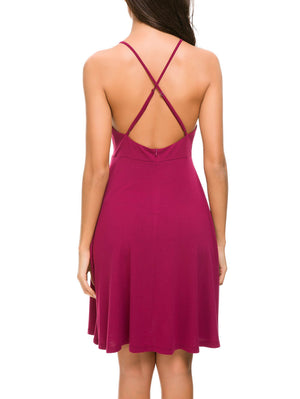 Backless Halter Cami Mini Dress - Mint Limit