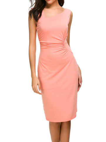 Ruched Bodycon Midi Dress - Mint Limit