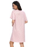 Floral Print Sleep Dress In Pink - Mint Limit