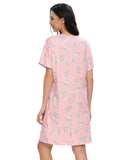Fruit Print Sleep Dress In Pink - Mint Limit