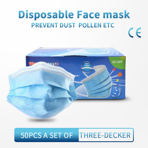 50PCS Disposable Face Masks Anti-bacteria Spit Splash Protection - Mint Limit
