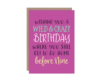Wild & Crazy Birthday Card