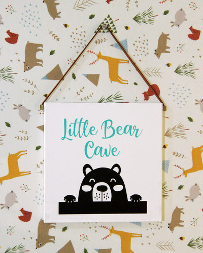 Little Bear Cave Wall Decor Block