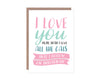 Love You More Than Instagram Cats Card