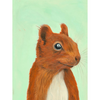 Scamper the Squirrel Art Print