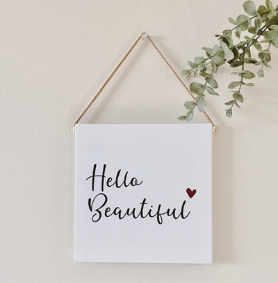 Hello Beautiful Wall Decor Block