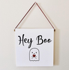 Hey Boo Wall Decor Block