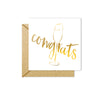 Congrats Foiled Mini Card