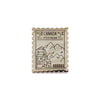 Grain Mill Postage Stamp Pin