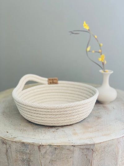Novelty Handcrafted Coiled Rope Basket