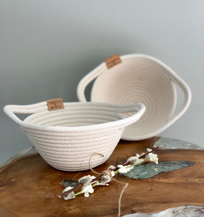Saucer Coiled Rope Basket