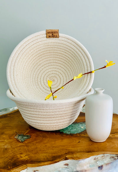 Lip Coiled Rope Basket