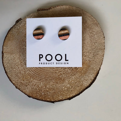 Circle Pool Stud Earrings
