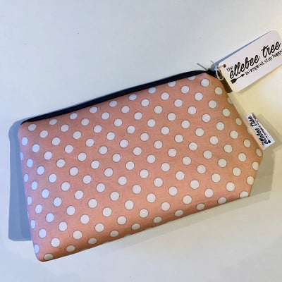 Pink Polka Dot Gusset Bag