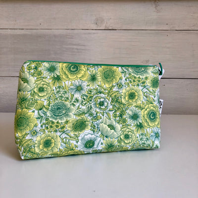Green Floral Gusset Bag