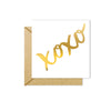 XOXO Foiled Mini Card