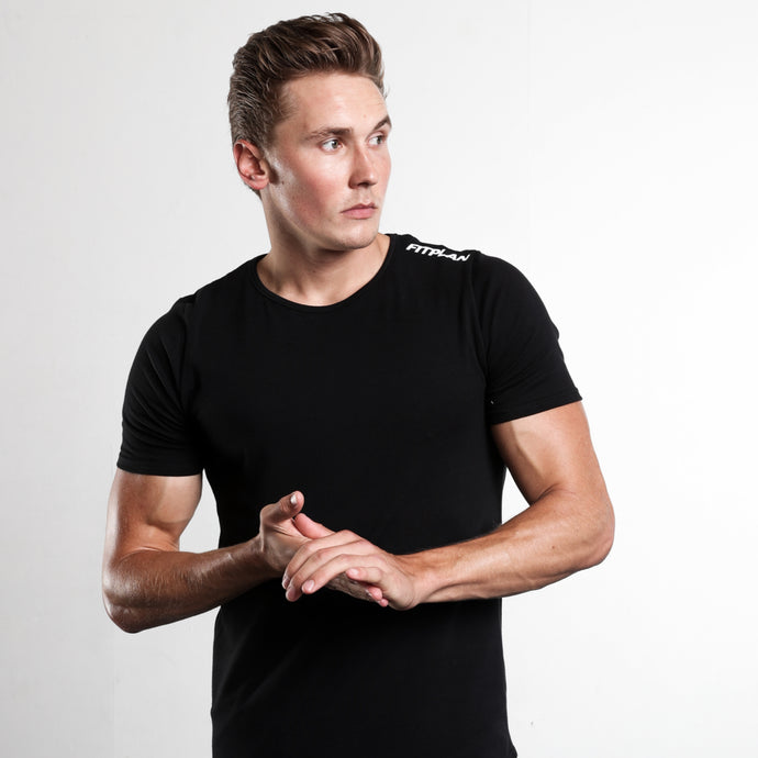 Fitplan Shoulder Logo Shirt Black
