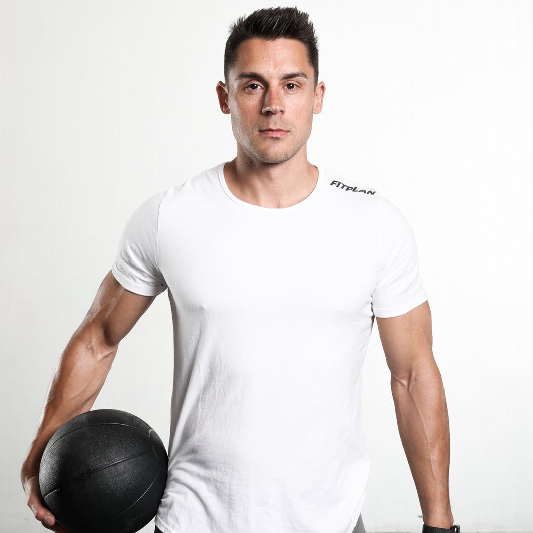 Fitplan Shoulder Logo Shirt White