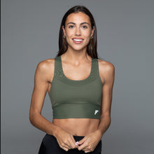 Load image into Gallery viewer, Fitplan Sports Bra Olive