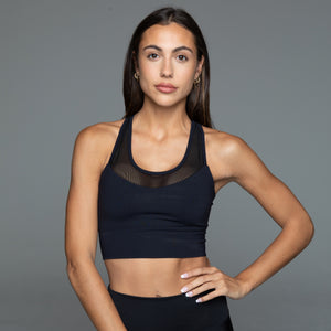 Fitplan Mesh Sports Bra Black