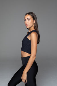 Fitplan Crop Top Black