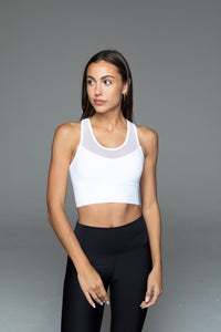 Fitplan Mesh Sports Bra White