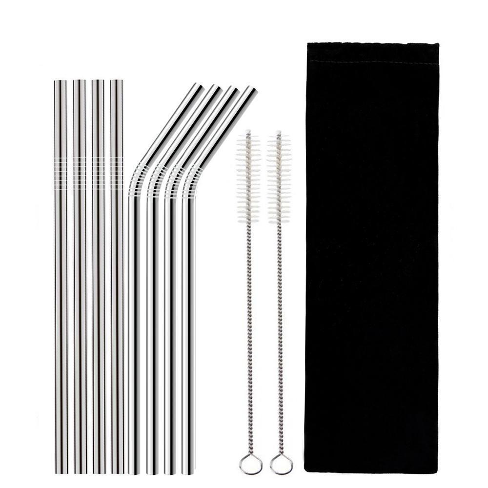 REUSABLE DRINKING STRAW - 4 PCS