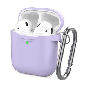 AhaStyle Case & Cover غطاء من السيليكون مع سلسلة ل Airpods- أرجواني