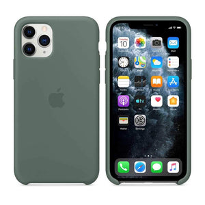Apple Case & Cover كفر أصلي سيليكون لآيفون 11 Pro من Apple - أخضر داكن