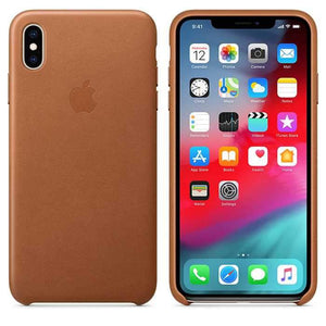 Apple Case & Cover كفر جلدي أصلي لآيفون XS Max  من Apple - بني رملي