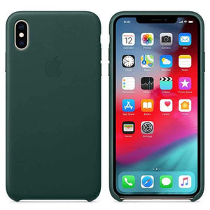 Apple Case & Cover كفر جلدي أصلي لآيفون XS من Apple - أخضر داكن