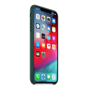 Apple Case & Cover كفر جلدي أصلي لآيفون XS Max من Apple - أخضر داكن