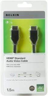 Belkin Power & Connectivity BELKIN HDMI To HDMI Audio Video Cable 1.5m Black