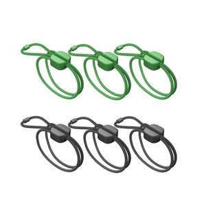 Bluelounge Cable Management BLUELOUNGE Pixi Multi-Purpose Ties Medium Green & Black