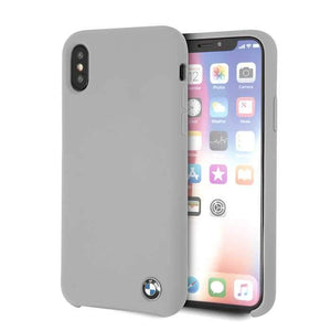 Bmw Case & Cover BMW Real Microfiber Silicone Case for iPhone X - Gray