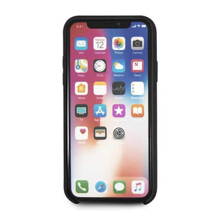 Bmw Case & Cover BMW Real Microfiber Silicone Case for iPhone X - Black