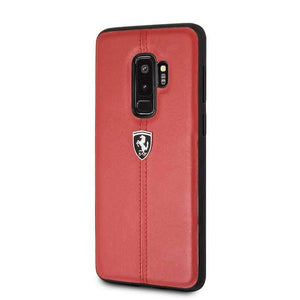 Ferrari Case & Cover كفر فاخر لسامسونج S9 Plus من فيراري - أحمر