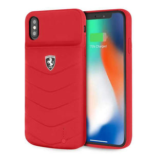 Ferrari Powerbank كفر شاحن سعة 4000 ملي أمبير لآيفون  Xs Maxمن Ferrari - أحمر